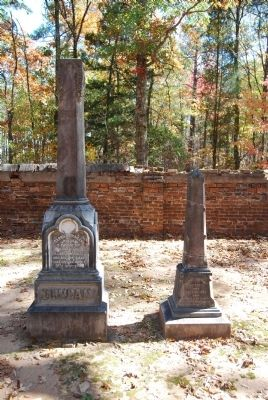 Tombstones for Carrie C. Duncan (Left)<br>Ellen Douglas Duncan (Right) image. Click for full size.