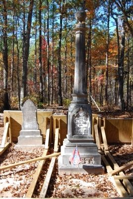 Tombstones for Mary E. Gist (Left)<br>Gov. William H. Gist (Right) image. Click for full size.