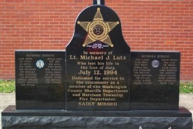 Lt. Michael J. Lutz Memorial image. Click for full size.