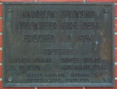 Harrison Township Volunteer Fire Department Marker image. Click for full size.