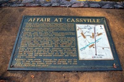 """Affair at Cassville"" Map located in WPA Pavilion image. Click for full size."