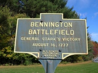 Bennington Battlefield Marker - Walloomsac, New York image. Click for full size.