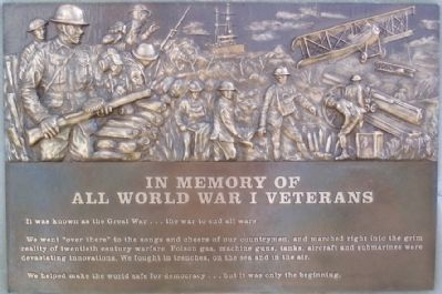 World War I Veterans Memorial Marker image. Click for full size.