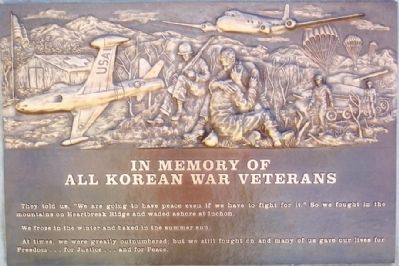 Korean War Veterans Memorial Marker image. Click for full size.