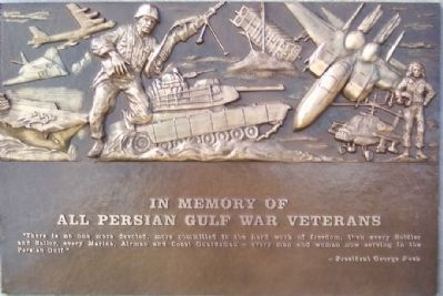 Persian Gulf War Veterans Memorial Marker image. Click for full size.