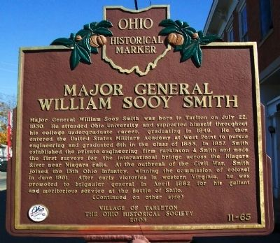 Major General William Sooy Smith Marker (side A) image. Click for full size.