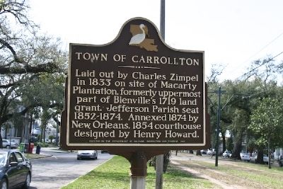Town of Carrollton Marker image. Click for full size.