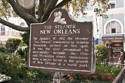 The Steamer New Orleans Marker image. Click for full size.