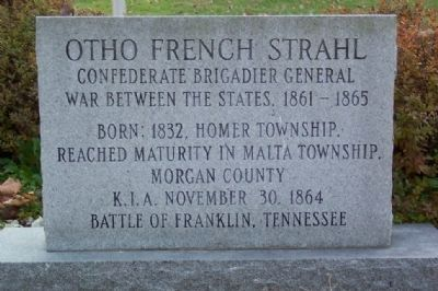 Otho French Strahl Marker (front) image. Click for full size.