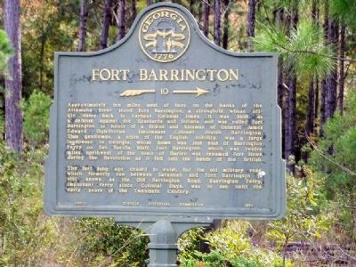 Fort Barrington Marker image. Click for full size.