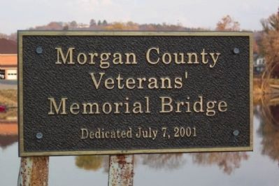 Morgan County Veterans' Memorial Bridge Marker image. Click for full size.