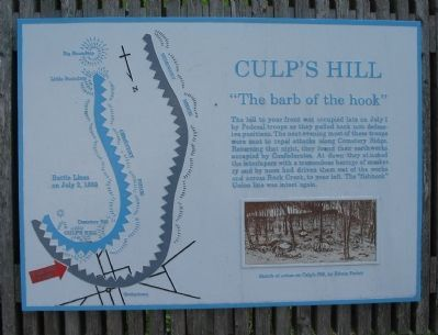 Culp's Hill Marker image. Click for full size.