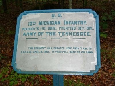 12th Michigan Infantry Marker image. Click for full size.