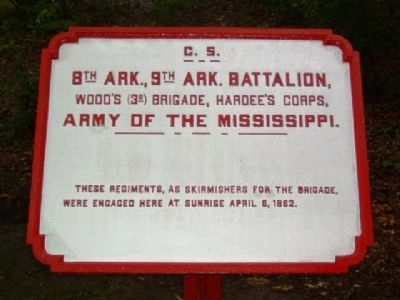 8th Ark., 9th Ark. Battalion Marker image. Click for full size.