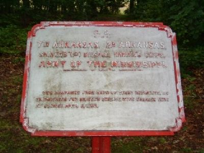 7th Arkansas, 2d Arkansas Marker image. Click for full size.