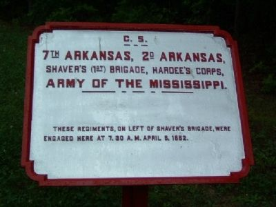 7th Arkansas, 2d Arkansas Tablet image. Click for full size.