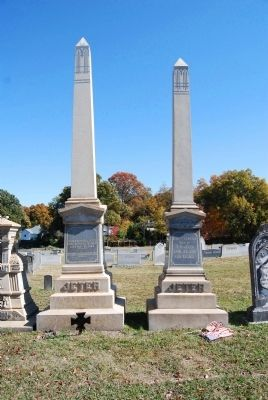 Tombstones for<br>Governor Thomas B. Jeter<br> and Wife, Ann Thomson image. Click for full size.