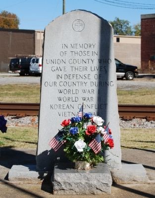 Union County Veterans Memorial Marker image. Click for full size.