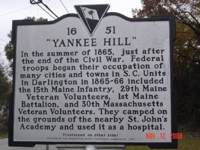 """Yankee Hill"" Marker image. Click for full size."