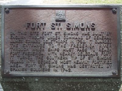 Fort St. Simons Marker image. Click for full size.