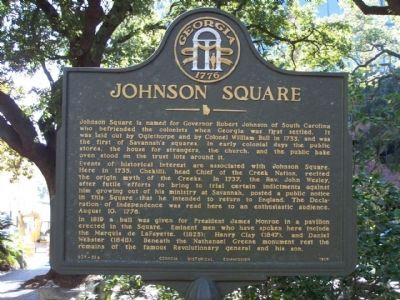 Johnson Square Marker image. Click for full size.