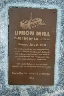 Union Mill Marker image. Click for full size.
