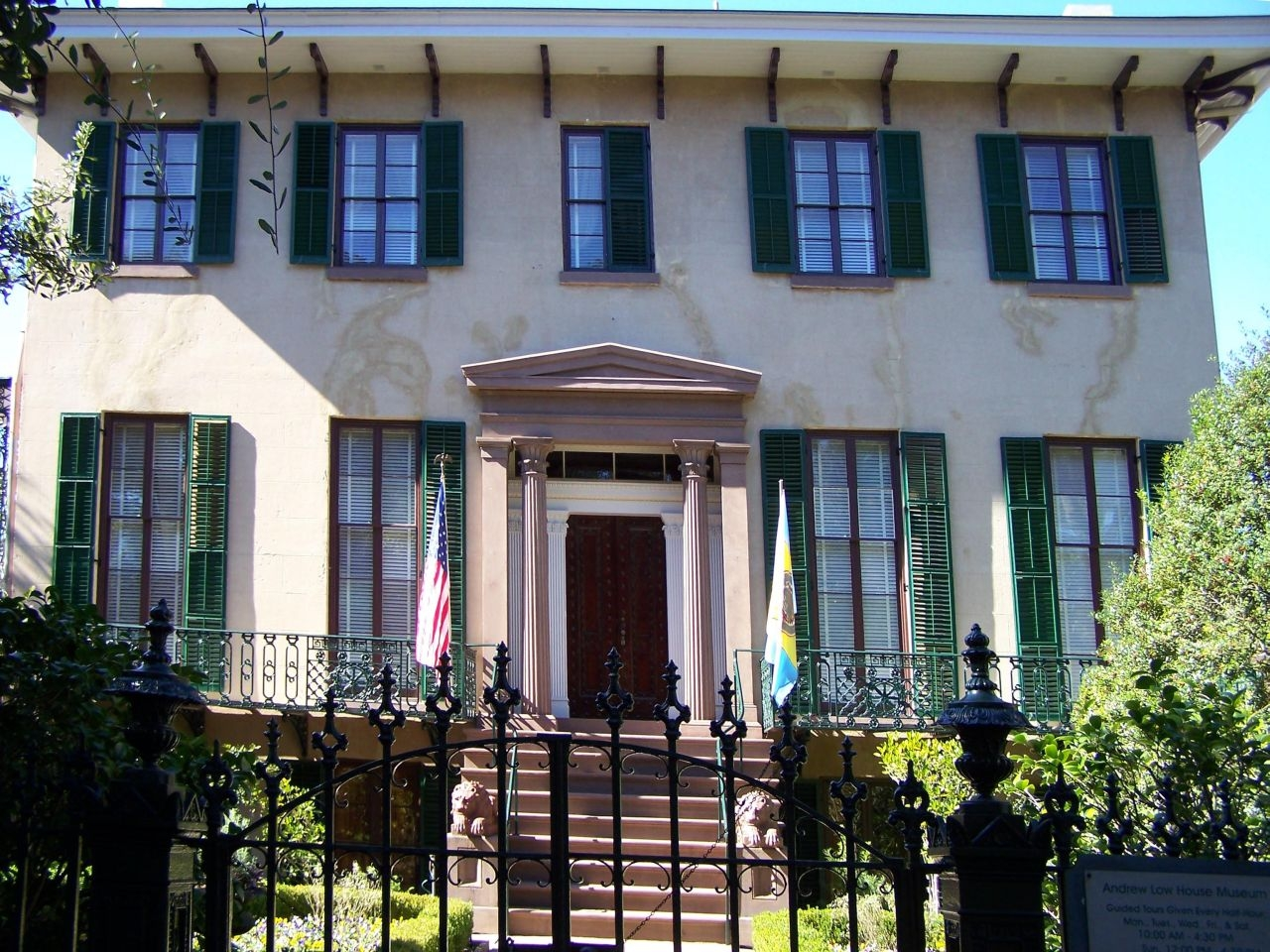 Colonial Dames House , the Andrew Low Museum, today