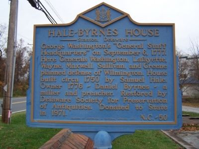 Hale-Byrnes House Marker image. Click for full size.