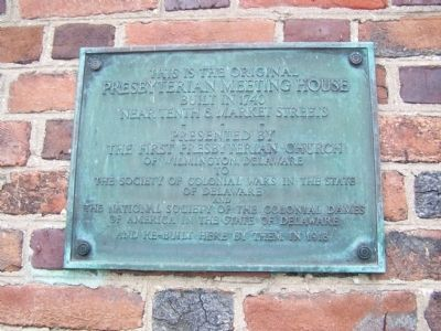 First Presbyterian Church Plaque image. Click for full size.