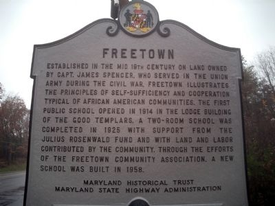 Freetown Marker image. Click for full size.