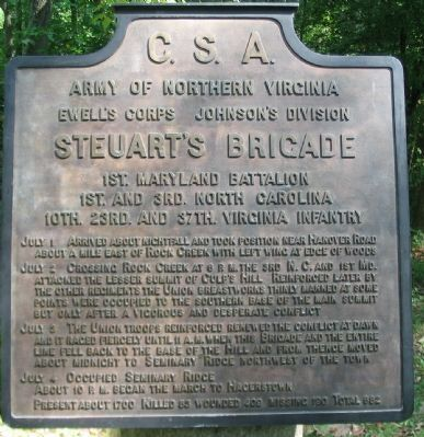 Steuart's Brigade Tablet image. Click for full size.