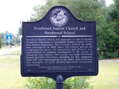 Needwood Baptist Church and Needwood School Marker image. Click for full size.
