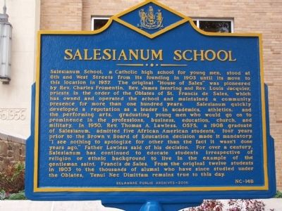 Salesianum School Marker image. Click for full size.