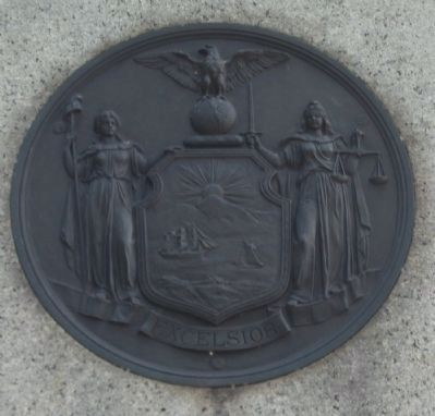 State Seal on the Monument image. Click for full size.