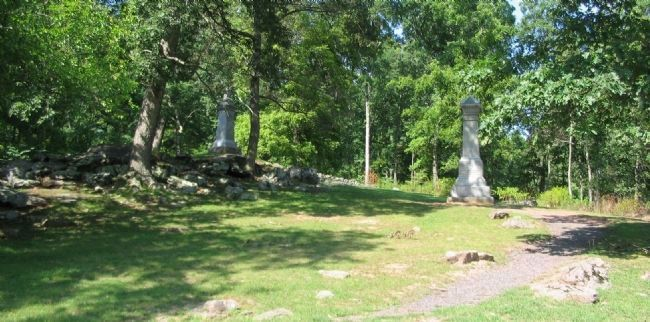 107th NY and 1st Maryland Regiments Monuments image. Click for full size.