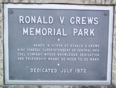 Ronald V. Crews Memorial Park Marker image. Click for full size.