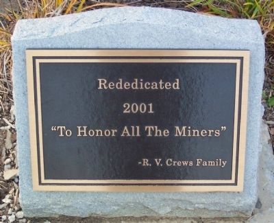 Ronald V. Crews Memorial Park Rededication Marker image. Click for full size.