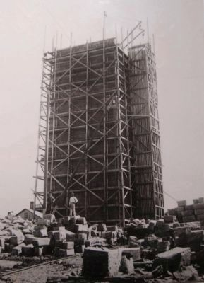 Bennington Battle Monument Under Construction image. Click for full size.