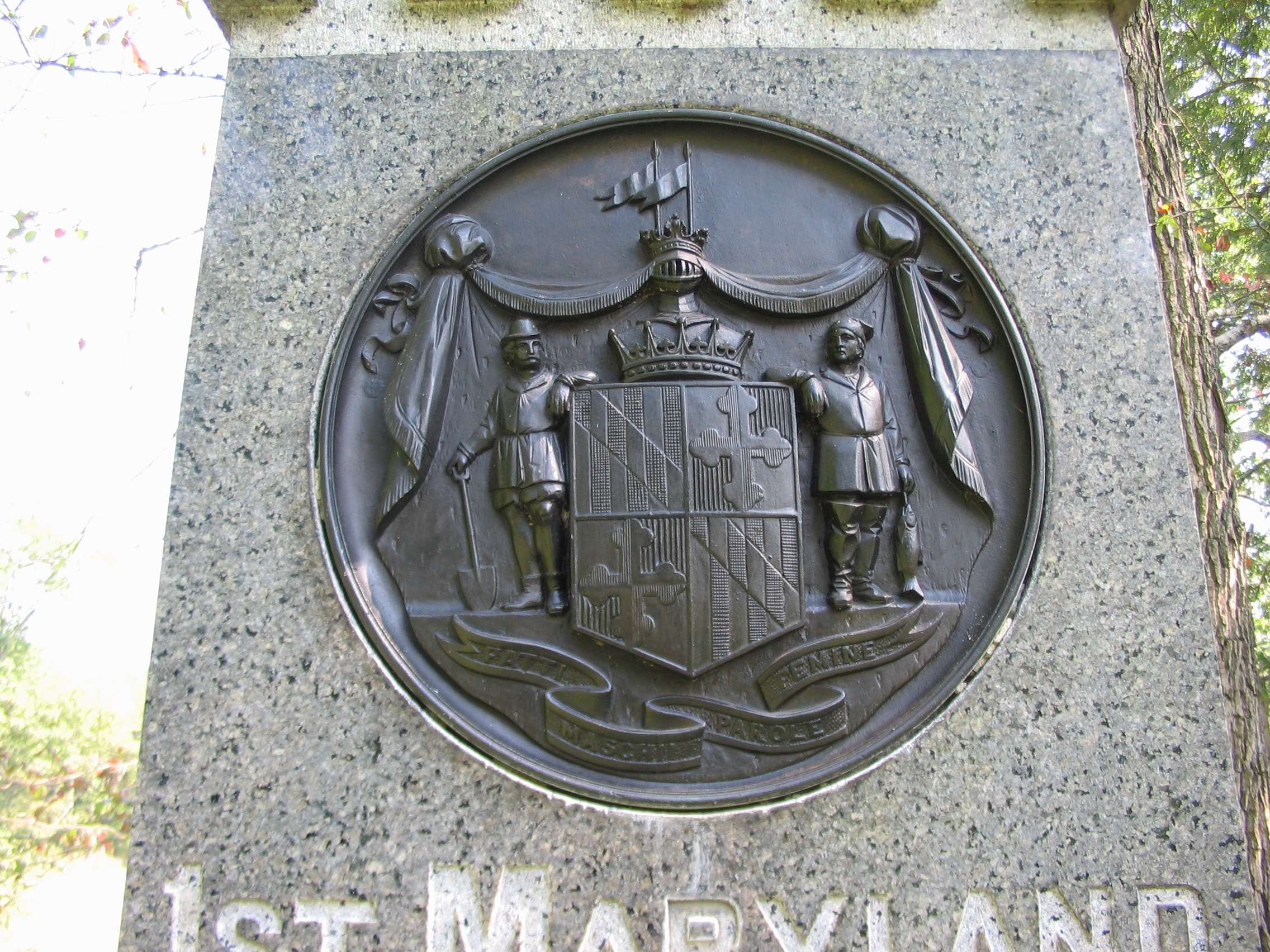 Close-up of Maryland Seal on Front