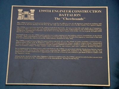 1399th Engineer Construction Battalion Tablet image. Click for full size.