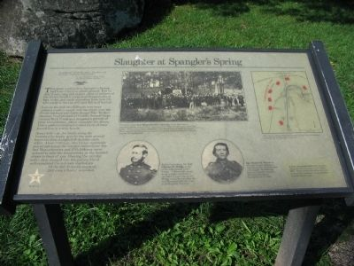 Slaughter at Spangler's Spring Marker image. Click for full size.