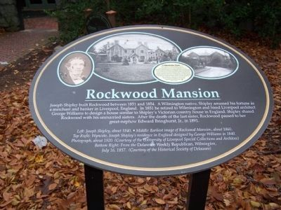 Rockwood Mansion Descriptive Marker image. Click for full size.