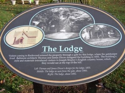 The Lodge Descriptive Marker image. Click for full size.