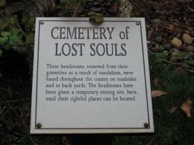Cemetery of Lost Souls Marker image. Click for full size.