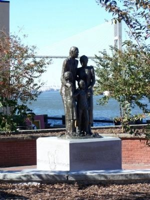 African American Monument Marker, along The Savannah's River front image. Click for full size.