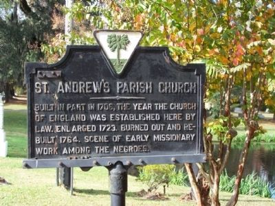 St. Andrew's Parish Church Marker image. Click for full size.