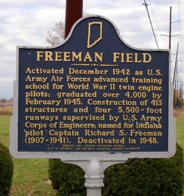 Freeman Field Marker image. Click for full size.