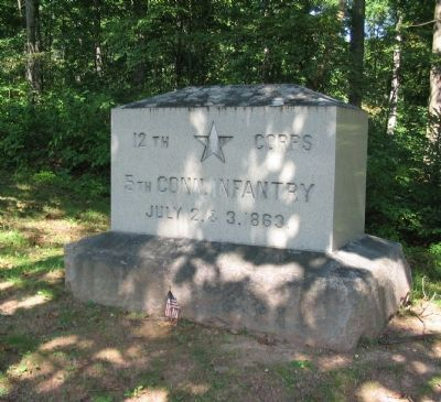 5th Connecticut Infantry Monument image. Click for full size.