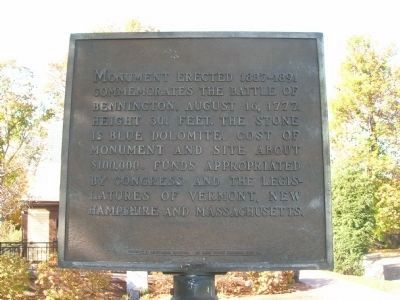 Battle of Bennington Marker image. Click for full size.