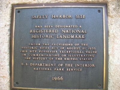 Safety Harbor Site Marker image. Click for full size.